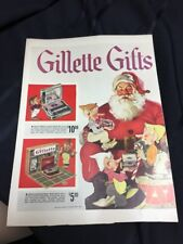 Rare Full Page Gillette Safety Razor Ad  - 1930's Magazine & Swank Jewelry Boxes