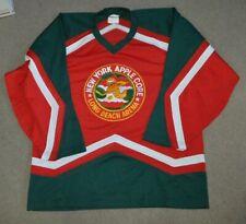 New York Apple Core Game Worn Hockey Jersey Large EHL EJHL