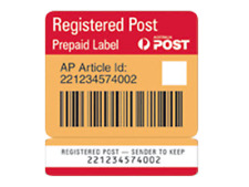 Australia Post Prepaid Registered Label