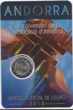Andorra 2 Euros 2018 25 Aniv. Constitucion @ 8ª emisión @