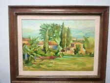 Alberto Pistoresi Paesaggio presso Fucecchio 50x70 cm olio su tela quadro 1977