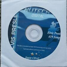 ELVIS SCDG KARAOKE DISC SET NUTECH 419 SONGS SUPER CD+G CAVS JAILHOUSE ROCK