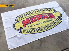 Mopar Flag Banner 3x5 ft Chrysler Plymouth Dodge Desoto Motor Parts Accessorie
