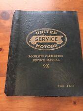 1953 United Motor Service Rochester Carburetor 9x Service Manual 1932-1954