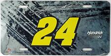 Jeff Gordon #24 NASCAR Hendrick Motorsports License Plate Vehicle Metal Auto Tag