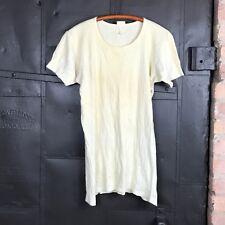 Vintage 1930s 40s Munsingwear Ribbed Cotton T-Shirt Men's Large?