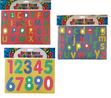 Foam Puzzle Numbers Letters Alphabet Toys Toddler Gift Set of 3 Educational Lot