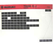 Suzuki TS250 Savage 1971 1972 Parts Microfiche s247