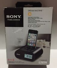 Sony Dream Machine Alarm Clock Radio for iPhone/iPod - ICF-C05IP, Black