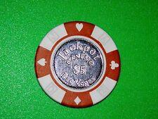 "One $5 Jackpot Casino Las Vegas Poker Chip ""Rare"" Use As Hole-Card Protector"
