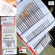 16PCS Tail Gold Plated Stainless Steel Hand Sewing Needles