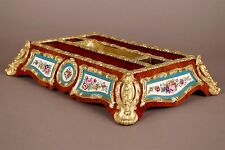 Encrier d'époque Napoléon III en porcelaine de Sèvres et bronze doré