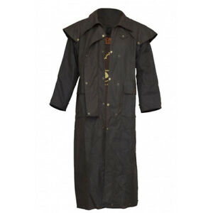 Burke and Wills Balranald Full Length Oilskin Jaket Oilskin Coat