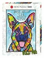 Heye Puzzles - 1000 Piece Jigsaw Puzzle  - Dogs Never Lie  HY29732