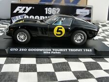 FLY FERRARI GTO 250 'GOODWOOD TOURIST TROPHY 62' BLACK #5  E2013 1:32 SLOT BNIB