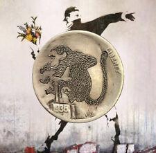 """1936 ~ Hand Carved Original Hobo Nickel ~ OOAK ~ """"Uncle Banksy"""" by SteveOrino"""