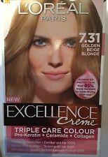 L'Oreal Excellence Creme Triple Care Colour Golden Beige Blonde 7.31