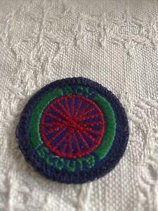 Scout Badge. Vintage Sea Scout Cyclist.