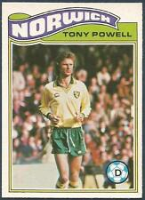 TOPPS 1978 FOOTBALLERS #012-NORWICH CITY-TONY POWELL