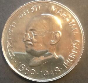 India 1969 10 Rupee Silver Gandhi PROOF versions!  Check this price for 3 coins!