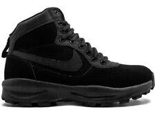 Nike manoadome UK6 US7 EU40 Triple Negro Cuero Botas Para Excursionismo Caminar 844358 003