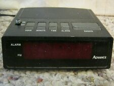 Advance Digital LED Display Alarm Clock Model 3139 W/Snooze & Battery Backup