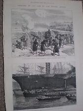 LA RUSSIE TURQUIE GUERRE livraison chevaux de guerre Constantinople 1877 Imprimer