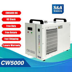Genuine S&A CW-5000 DG 110V  Water Chiller Cool 80W 100W CO2 Laser Tube US Stock