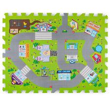 "Town Roads Play Mat Set 18"" x 24"" Interlocking Puzzle Pieces Soft Safe Foam 3+"