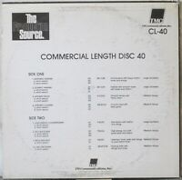 THE PRODUCTION SOURCE Commercial Length Disc 40 LP Music Library CL-40