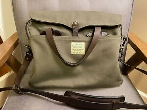 Filson Original Briefcase - Ducks Unlimited Edition In Green