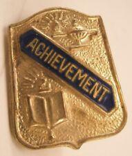 Achievement Vintage Lapel Pin Tie Tack fraternity sorority high school