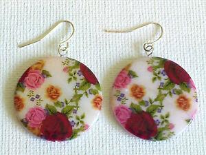 Fuschia Rose Earrings