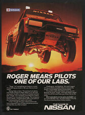 1985 NISSAN 4X4 Pickup Truck - Off-Road Racing Star ROGER MEARS VINTAGE AD