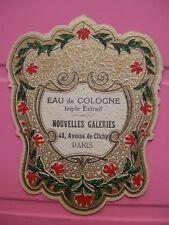 1 ANCIENNE ETIQUETTE PARFUM /ANTIQUE PERFUME LABEL FRENCH PARIS /PROFUMO LABEL