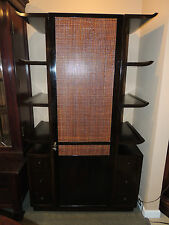Dramatic James Mont Cabinet, bookcase cane/wood (display sideboard, etegere)