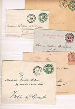 Belgica. Conjunto de 5 sobres con sellos impresos