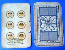 15188 Carte da gioco Comitato civico 1951 JACOVITTI - originale - Sei d'oro