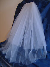 ELEGANT CUT EDGE BRIDAL VEIL, 65 cm Waist Length,White, Ivory, Black, NEW, Aust