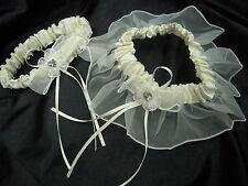 NEW IVORY wedding bridal garter 2 pieces set toss keepsake