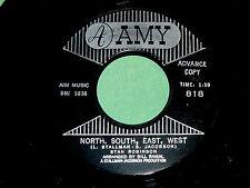 """STAN ROBINSON """"North, South, East, West"""" 45 : Amy 818 @ 1961 Hillbilly FOLK ROCK"""