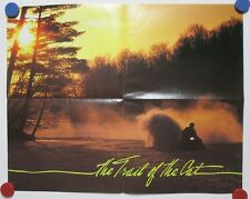 Vintage 1985 Cat's Pride Poster The Trail Of The Arctic Cat Snowmobile