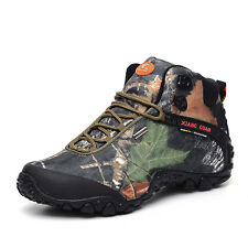 Men Waterproof Mesh Outdoor Climbing Hiking Boots Safety Desert Sport Shoes Camo