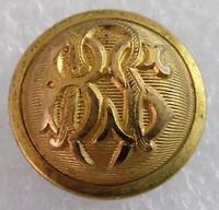 Antique Post Civil War Boston School Regiment Staff Cuff Button 1880 MASS SU43B