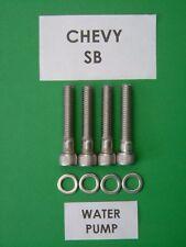 Chevy BB 402 427 454 long Pompe à eau Cap Head Bolt Kit en acier inoxydable