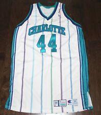 99/00 Charlotte Hornets Derrick Coleman Pro Cut Team Issued Jersey Champion 54