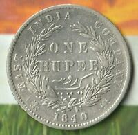 1840 British India Rupee~~91.7% Silver~~ 178 year old rare silver piece! AWESOME