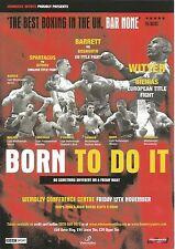 Wembley A5 boxing flyer EU title fight 12 November 2004 Barrett v Bosworth