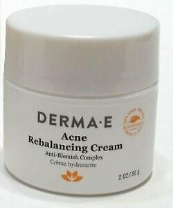 DERMA E Acne Rebalancing Cream 2 oz - Without Box - Exp 6/21