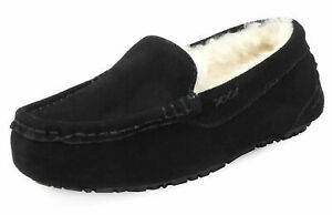 DREAM PAIRS Womens Moccasin Faux Fur Suede Slippers Moccasins Comfort Slippers